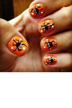How does one make nail art spiders?
