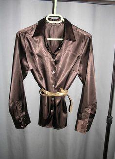 A vendre sur #vintedfrance ! http://www.vinted.fr/mode-femmes/blouses-and-chemises/19844240-chemisier-en-soie-brun-chocolat