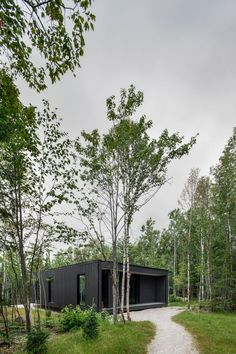 The project follows Bourgeois Lechasseur's previous work on glamping or short-term rental projects in the region, and the studio sees this a continuation of the same type of work.