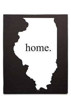 Cathy's Concepts 'Home State' Canvas Wall Art | Nordstrom
