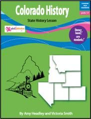 Colorado History is a literacy-based lesson aligned with the Common Core Standards. This 32-page lesson teaches about the state's first people, famous explorers and Native American leaders, early government, important battles and wars in Colorado, and the journey to statehood.