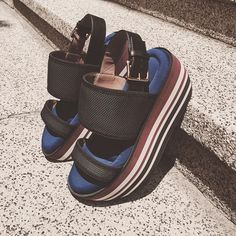 Looking for #sandals?  #mclabels #fashion #marni #summer #look #blue #wedge #hot #holiday #stairs #steps #onlineshop #ecommerce #shopnow #madeinitaly