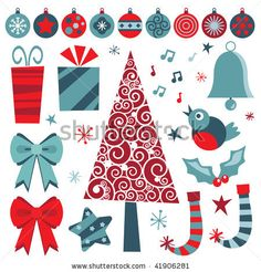 Google Image Result for http://image.shutterstock.com/display_pic_with_logo/270262/270262,1259592819,1/stock-vector-christmas-design-elements-in-red-and-blue-with-tree-decorations-and-gifts-41906281.jpg