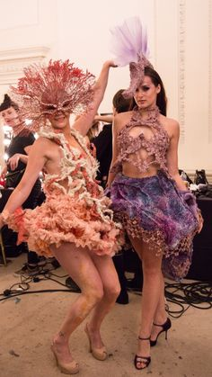 Here's another image of just some of the costume I had to opportunity to help develop and create under the talented eye of Olivia Deur, a London based Costume/Fashion designer. These two lovely ladies were part of 6 hostess to meet and greet at the grand opening of Sexy Fish, Mayfair. Our Sexy Seahorse and our Sexy Coral Lady