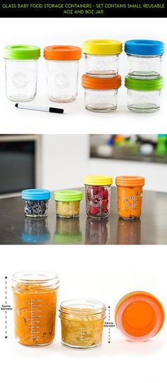 Glass Baby Food Storage Containers - Set contains Small Reusable 4oz and 8oz Jar #drone #products #8oz #shopping #storage #racing #parts #camera #plans #gadgets #fpv #tech #technology #kit