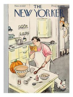 New Yorker Thanksgiving Covers Print at the Condé Nast Collection
