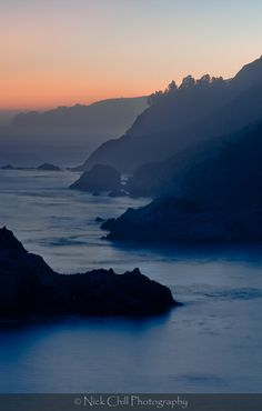 Big Sur Silhouette by Nick Chill ~ #sunset