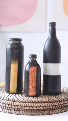 Diy Crafts For Home Decor, Diy Crafts Hacks, Diy Projects, Mason Jar Crafts, Bottle Crafts, Mason Jar Art, Diy Design, Diy Upcycling, Creation Deco