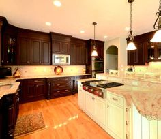 Kitchen with island in Agawam MA Designed by Kitchen Bath Design