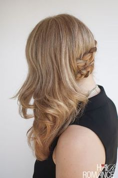 Hair Romance - how to wear your hair to a wedding - side swept braid hairstyle tutorial