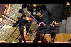 As you can see there's a warlock Titan and a hunter fighting a vex boss do not forget about the beta of destiny