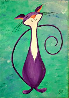 Original Cat Painting for Sale  Fantasy Cats  by NaturelandsAndCo, $25.00