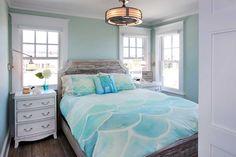 turquoise beach house bedroom
