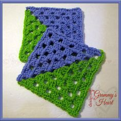 Granny Double Take: A Six Inch Square, free crochet pattern on Designs From Grammy's Heart