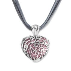 Interchangeable Heart Filigree Pendant Necklace #mothersdaygifts #carolynpollackjewelry