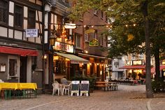 Explore the side streets outside the financial district to see the charming side of Frankfurt, Germany