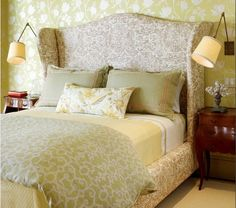 DIY:  How To Build A Wing Back Upholstered Headboard and Bed.