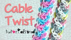 NEW REVERSIBLE Cable Twist Bracelet Rainbow Loom Tutorial by Tutorials By A