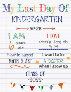 Editable last day of school sign for great photos to easily make at home - - Get your editable last day of school sign for absolutely free! Plus a tutorial how to customize it in the comfort of your home! End Of School Year, School Days, First Grade Procedures, School Template, Kindergarten First Day, Kindergarten Graduation, School Signs, School Memories, Kids Learning Activities