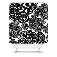 DENY Designs Julia Da Rocha Circo Doodles Fabric Shower Curtain