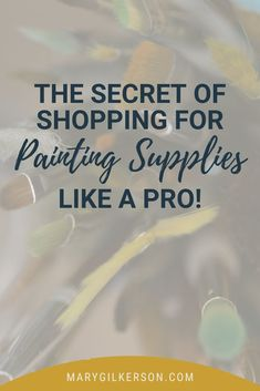 Painters and artists, don't feel overwhelmed choosing the painting materials that you use in your studio! I've got a handy list of art supplies that will help you choose quality paints, limit the number of colors you'll need, and more. Save this pin and click through to read more!