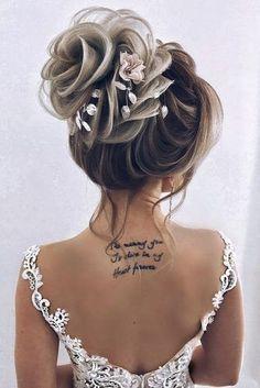chignon Haarknoten, The post Haarknoten & Frisuren appeared first on Medium length hair . Wedding Hairstyles For Medium Hair, Bride Hairstyles, Cool Hairstyles, Hairstyle Wedding, Hair Wedding, Hairstyle Ideas, Winter Wedding Hairstyles, Curly Updos For Medium Hair, Bridal Hair Vine