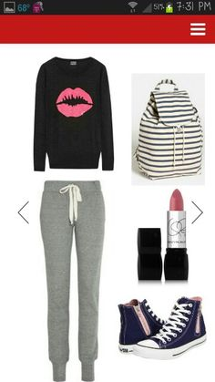 Cute lazy day outfit for school (by Tayler Frazier)