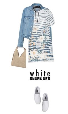 """""""White sneakers contest"""" by maria-maldonado ❤ liked on Polyvore featuring Open End, Vans, INZI and whitesneakers"""