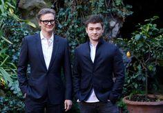 Colin Firth &Taron Egerton - Kingsman: The Secret Service in Rome Photo call