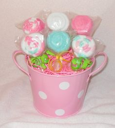 NewHalf A Dozen Washcloth Lollipop Bouquet. $22.00. Order yours at www.etsy.com/shop/care72