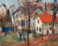 Autumn day in Vaxholm   -    Birger Birger-Ericson , c.1940-49   Swedish, 1904-1994   oil on panel , 50 x 61 cm. (19.7 x 24 in.)