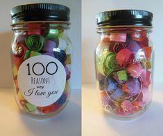 100 Reasons why I love you Jar
