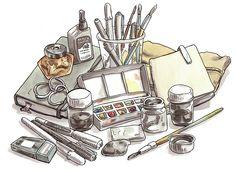 healthy people 2020 goals for the elderly home jobs nyc Drawing Interior, Interior Sketch, Interior Doors, Interior Design, Pencil Sketches Easy, Drawing Sketches, Sketch Ink, Pen Drawings, Art Therapy Projects