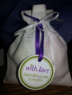 Gastgeschenk Lavendelsäckchen für die Frauen