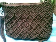 Macrame hitam tali pendek kait lonceng | macrame bag | Pinterest ...