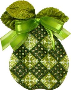 Melissa Shirley Designs | Hand Painted Needlepoint | 2011, pear