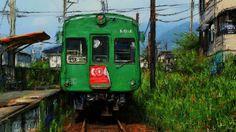 Art picture by Seizi.N 僕の故郷の話をしょう、どこかで聞いた様な歌詞と思いますが、僕の故郷熊本の絵の話をしょうに変えて、熊本は路面電車にローカル鉄道車両が多い町です、この絵は北熊本と上熊本を走るローカルの通る町の風景をお絵描きしました。  Julee Cruise - The world spins http://youtu.be/MvCp0XtXYXw