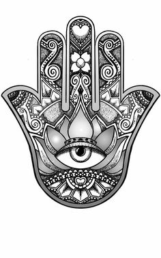 hamsa hand design by andywillmore - Hand Nail Ideas Vine Tattoos, Irish Tattoos, Old Tattoos, Small Tattoos, Script Tattoos, Dragon Tattoos, Brown Tattoos, Arabic Tattoos, Tattoo Fonts
