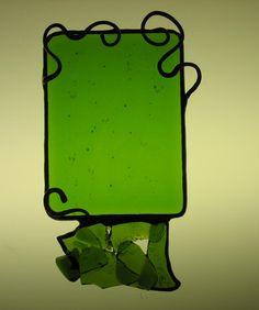 Fused Glass w/Wine Bottle Piece Hammered Copper, Copper Wire, Fused Glass, Lilac, Wine, Bottle, Flask, Syringa Vulgaris, Jars