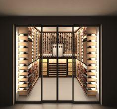 VintageKeeping – Wine World Wine Cellar Modern, Wine Cellar Design, Villa, Wine Cellar Basement, Home Wine Cellars, Home Bar Designs, Wine Display, Cigar Room, Wine Wall