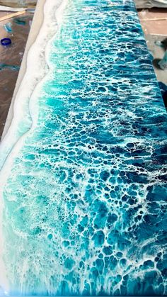 Resin ocean art