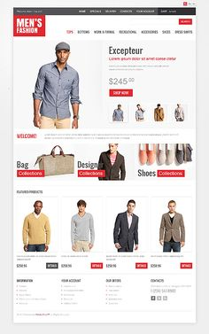 45743 - Premium oscommerce-templates design. Designed for Fashion related websites. Designed By Hermes