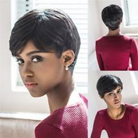 Aisi hair synthetic short pixie cut wigs for black women light short straight human hair wigs brazilian pixie cut glueless wigs for black women pmusecretfo Images