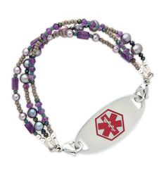 Tahitian Medical ID Bracelet from Lauren's Hope. #laurenshope #medicalID #laurenshopeID
