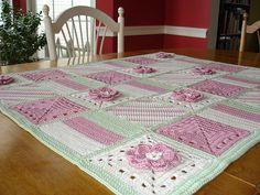 Quick+Crochet+Baby+Blanket   Patchwork sampler baby blanket   Flickr - Photo Sharing!