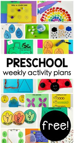 FREE weekly themed Preschool on the Go activity plans for hands-on playing & learning using simple supplies at home for parents & homeschool! games for toddlers Preschool Activities At Home, Pre K Activities, Preschool Learning Activities, Preschool Lessons, Preschool Worksheets, Kids Learning, Preschool Weekly Themes, Preschool Supplies, Homeschool Preschool Curriculum