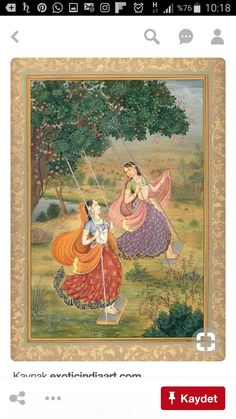 Maidens Welcoming the Arrival of Shravana, Mughal Miniature Painting on Paper Pichwai Paintings, Mughal Paintings, Indian Art Paintings, Abstract Paintings, Rajasthani Miniature Paintings, Rajasthani Painting, India Painting, Silk Painting, Painting Tips
