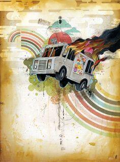 "Blaine Fontana- I Dream Of ""Improbability"" Art For Art Sake, Triptych, Wall Art Designs, Home Art, Painting & Drawing, My Dream, Amazing Art, Giclee Print, Street Art"
