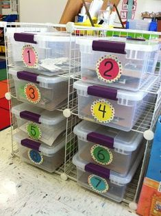 Math Station Work Organization- if I was still in the classroom...