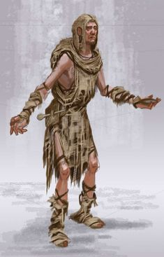 Beggar Male concept art from The Elder Scrolls V: Skyrim by Adam Adamowicz